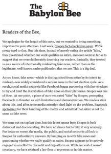 Babylon Bee Hires Lawyer