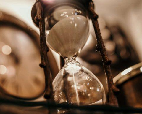 sand falling through an hourglass