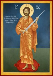 Picture of Jesus with a sword