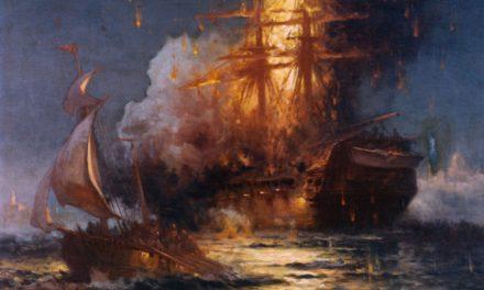 The Burning of the Philadelphia